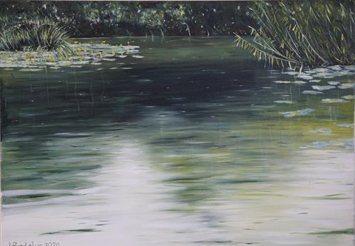 Urs Brandenburg, Aabach Detail, Landschaft: Sommer, Gegenwartskunst, Expressionismus