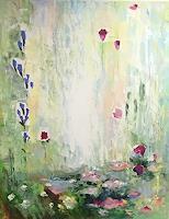 Olga-Scheck-Landschaft-Sommer-Pflanzen-Blumen-Gegenwartskunst-Gegenwartskunst