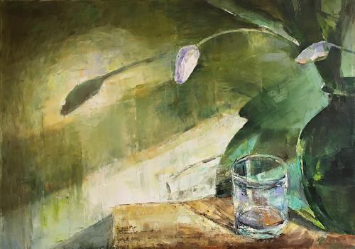 Olga Scheck, O/T, Pflanzen: Blumen, Gefühle: Geborgenheit, Gegenwartskunst, Expressionismus