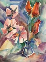 Olga-Scheck-Pflanzen-Blumen-Stilleben-Moderne-Moderne
