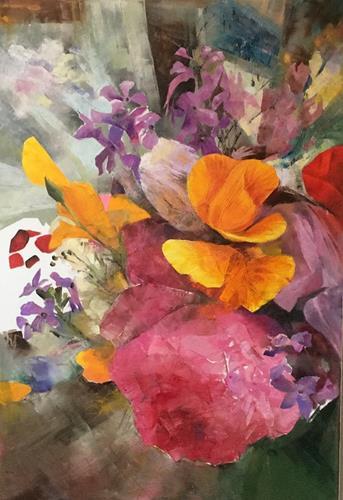Olga Scheck, Sommer 1, Pflanzen: Blumen, Gegenwartskunst, Expressionismus