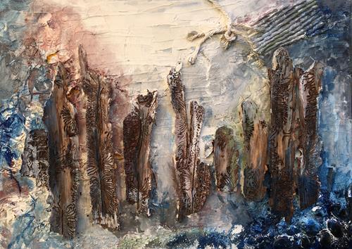 Ruth Loewenkamp, Meeresgrund, Landschaft: See/Meer, Natur: Wasser, Abstrakte Kunst