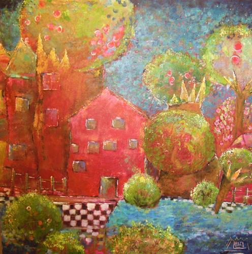 ManuEla Ludwig, Kronenstraße, Diverse Landschaften, Abstrakte Kunst, Expressionismus