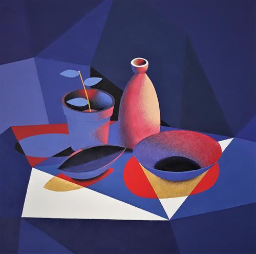 Marie Ruda, Stillleben., Dekoratives, Stilleben, Art Déco, Expressionismus