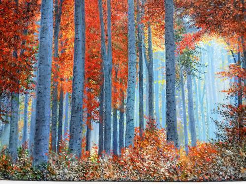 Marie Ruda, Birken, Natur: Wald, Pflanzen: Bäume, Neo-Realismus