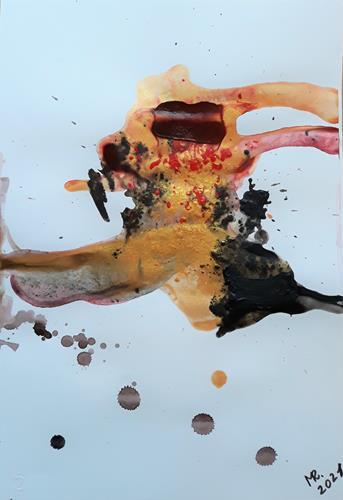 """Marie Ruda, Malzyklus""""Illusion""""-2. Goldener Löwe., Abstraktes, Diverse Tiere, Moderne"""