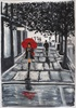 Marie Ruda, Das Mädchen mit dem roten Regenschirm., Diverse Menschen, Zeiten: Herbst, Moderne