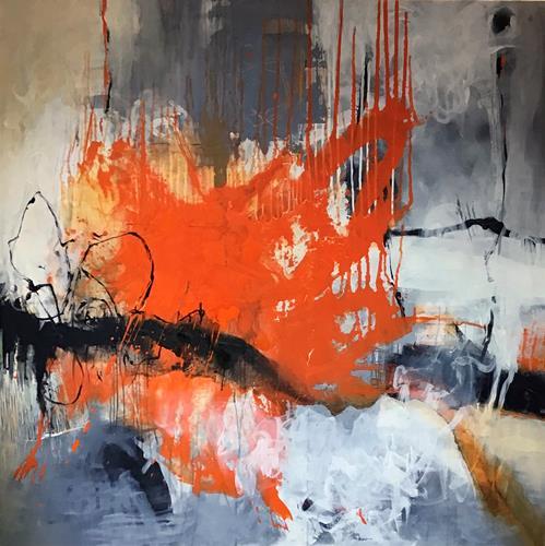 Martina Furk, Splash, Abstraktes, Gegenwartskunst, Abstrakter Expressionismus