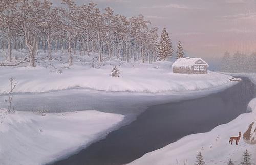 Gennady, Hirsch, Landschaft, Naturalismus