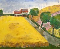 Joachim-Tatje-Landschaft-Fruehling-Dekoratives-Moderne-Expressionismus-Neo-Expressionismus