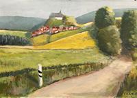 Joachim-Tatje-Landschaft-Huegel-Dekoratives-Moderne-Impressionismus-Postimpressionismus