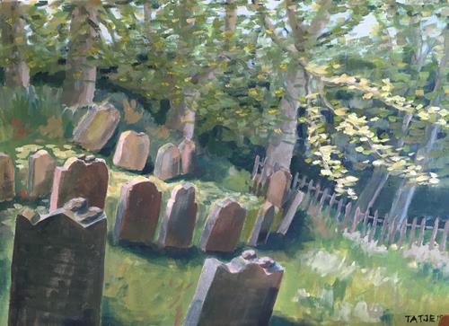 Joachim Tatje, Judenfriedhof (Schwalenberg), Landschaft: Hügel, Tod/Krankheit, Postimpressionismus, Expressionismus