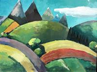 Joachim-Tatje-Landschaft-Berge-Dekoratives-Moderne-Expressionismus-Neo-Expressionismus