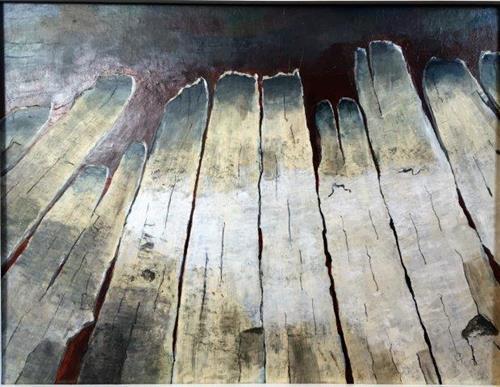 Joachim Tatje, Trügerischer Boden, Skurril, Dekoratives, Neo-Expressionismus, Expressionismus