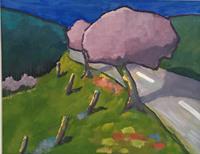 Joachim-Tatje-Landschaft-Huegel-Dekoratives-Moderne-Expressionismus-Neo-Expressionismus