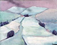 Joachim-Tatje-Landschaft-Winter-Dekoratives-Moderne-Expressionismus-Neo-Expressionismus