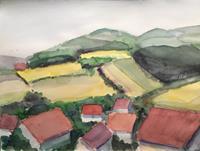 Joachim-Tatje-Landschaft-Huegel-Dekoratives-Neuzeit-Realismus