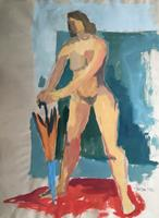 Joachim-Tatje-Menschen-Frau-Akt-Erotik-Akt-Frau-Moderne-expressiver-Realismus