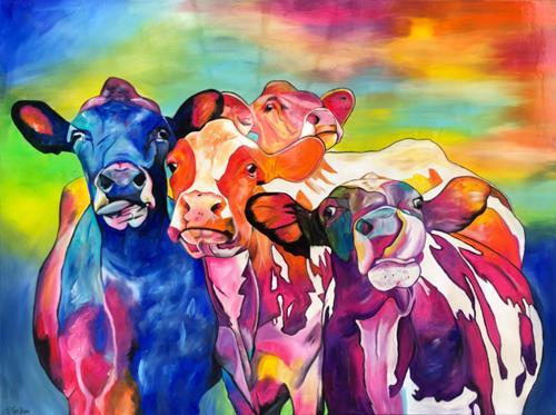 Sabrina Seck, cowgirls, Tiere: Land, Abstraktes, Gegenwartskunst