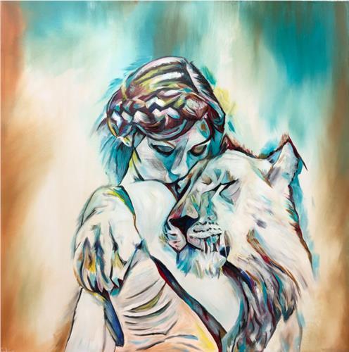Sabrina Seck, endless love, Tiere: Land, Menschen: Frau, Gegenwartskunst