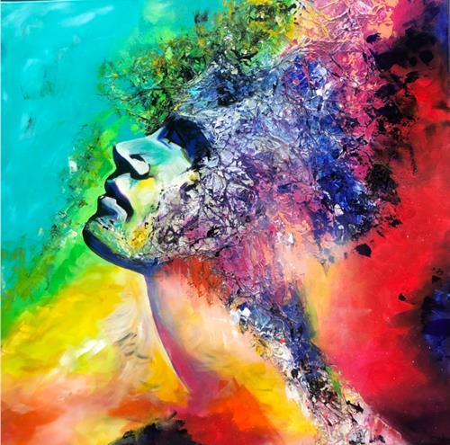 Sabrina Seck, the artist brain, Menschen: Gesichter, Abstraktes, Abstrakter Expressionismus