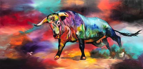Sabrina Seck, i want to live, Tiere: Land, Abstraktes, Abstrakter Expressionismus