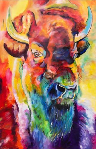 Sabrina Seck, gentle strength, Tiere: Land, Abstraktes, Abstrakter Expressionismus