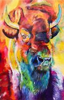 Sabrina-Seck-1-Tiere-Land-Abstraktes-Moderne-Expressionismus-Abstrakter-Expressionismus