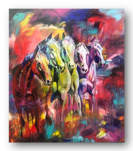Sabrina Seck, der Reihe nach, Abstraktes, Tiere: Land, Abstrakter Expressionismus, Expressionismus