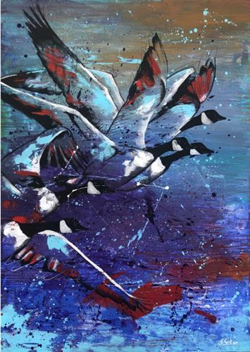 Sabrina Seck, the way, Abstraktes, Tiere: Luft, Abstrakter Expressionismus, Expressionismus