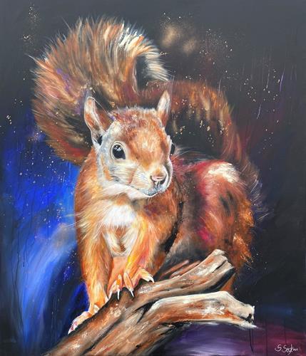 Sabrina Seck, Adele - 120 cm x 140 cm, Tiere: Land, Fantasie, Expressionismus