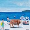Peter Seiler, Kuh am Strand in Korsika