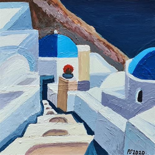 Peter Seiler, Oia Santorini, Diverse Landschaften, Gegenwartskunst