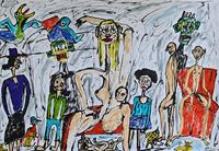 Peter-Seiler-Menschen-Gruppe-Moderne-Naive-Kunst