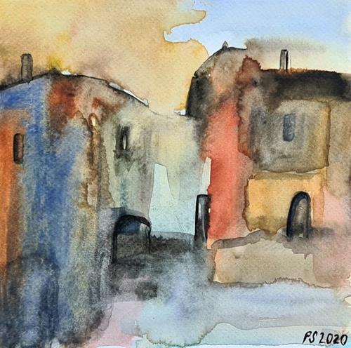 Peter Seiler, Tuscany village, Diverse Landschaften, Wohnen: Stadt, Neuzeit