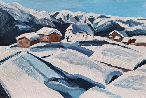 Peter Seiler, Bettmeralp VS Switzerland, Landschaft: Berge, Neuzeit