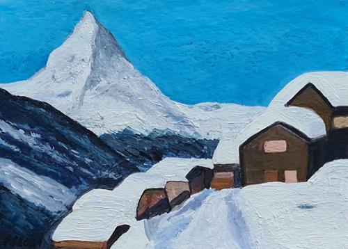 Peter Seiler, Findeln VS Switzerland, Landschaft: Berge, Neuzeit, Expressionismus