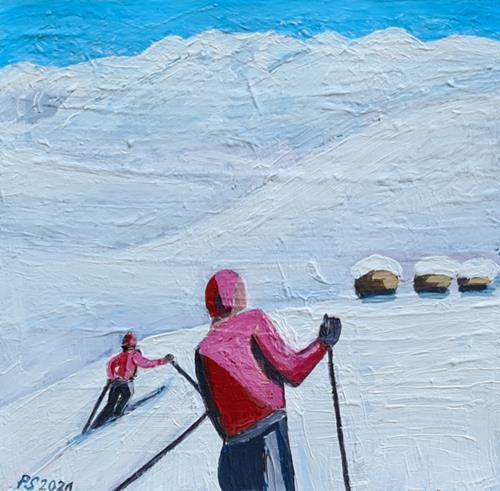 Peter Seiler, Skifahren in den 1950ern, Diverse Menschen, Sport, Moderne