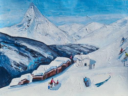 Peter Seiler, Skiing in Switzerland in the 1970s, Landschaft: Berge, Neuzeit
