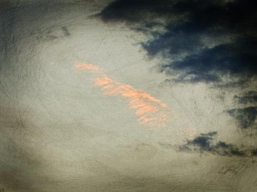Andrea Kasper, Es ist ein Tütchen Rosa Wolke geplatzt, Landschaft, Natur, Minimal Art, Expressionismus