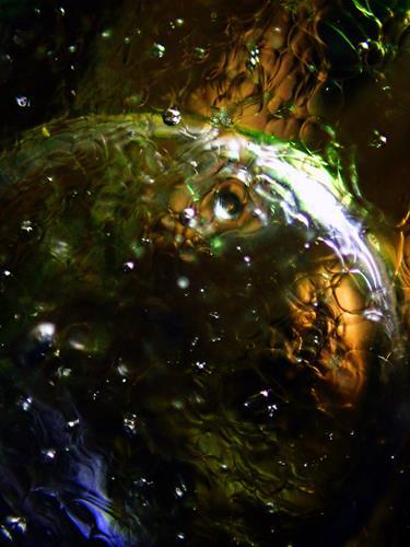 Andrea Kasper, Teichmondnacht, Abstraktes, Natur: Wasser, Gegenwartskunst, Expressionismus