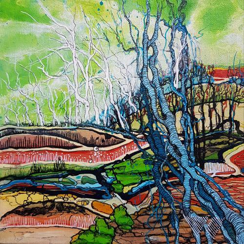 Vera Weber, FRAGILITY 17, Natur, Fantasie, expressiver Realismus, Expressionismus