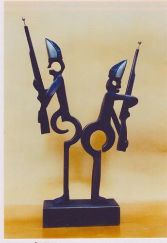 Helmut Schuster, Stippeföttche, Menschen, Abstrakte Kunst