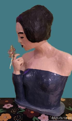 Eva Diez, A Mulher Com La Libelula, Menschen: Frau, Tiere: Luft, Gegenwartskunst, Expressionismus