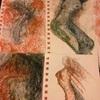 Aleksandra Pomorisac, Female figures, Menschen: Frau, Akt/Erotik: Akt Frau, Abstrakte Kunst