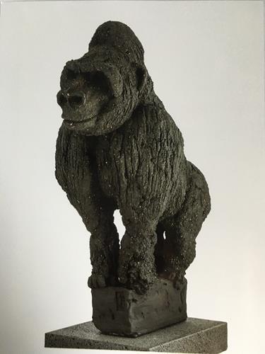 Adele Weiler, Gorilla, Tiere, Abstrakte Kunst, Expressionismus