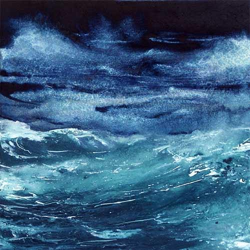 Joseph Wyss, O/T, Natur: Wasser, Abstrakter Expressionismus