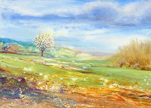 Joseph Wyss, Frühling, Landschaft: Frühling, Natur: Diverse, Gegenwartskunst