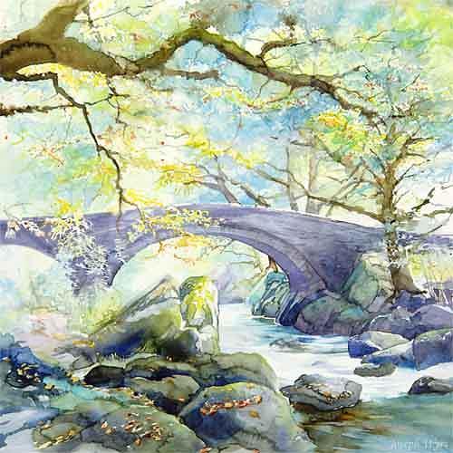 Joseph Wyss, Brücke, Diverse Landschaften, Natur: Wald, Gegenwartskunst