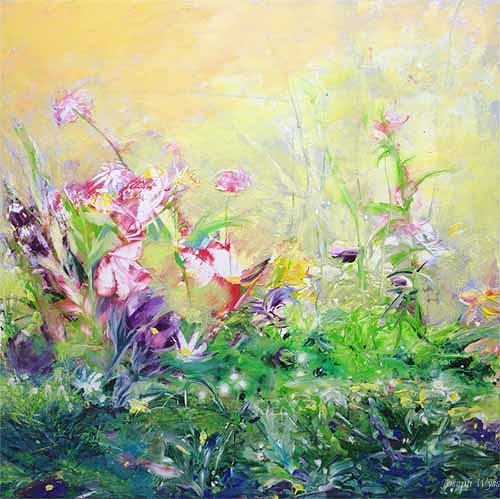 Joseph Wyss, Frühling, Pflanzen: Blumen, Landschaft: Frühling, Gegenwartskunst, Expressionismus